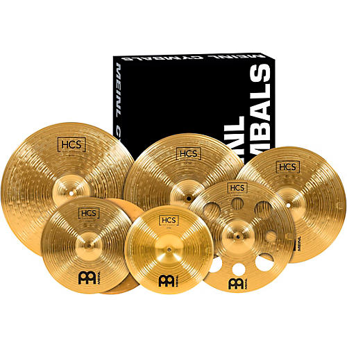 Meinl HCS-SCS1 Ultimate Complete Cymbal Set Pack with FREE 16-Inch Trash Crash