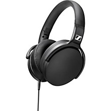 Open BoxSennheiser HD 400S Foldable Closed-Back Headphones with One-Button Remote Mic in Black