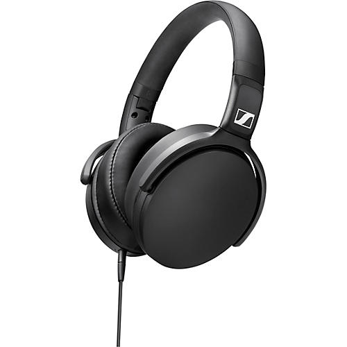 Sennheiser HD 400S Foldable Closed-Back Headphones with One-Button Remote Mic in Black Condition 1 - Mint
