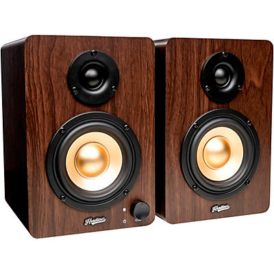 Headliner HD3 3.5 In. Powered Studio Monitors Pair Wood