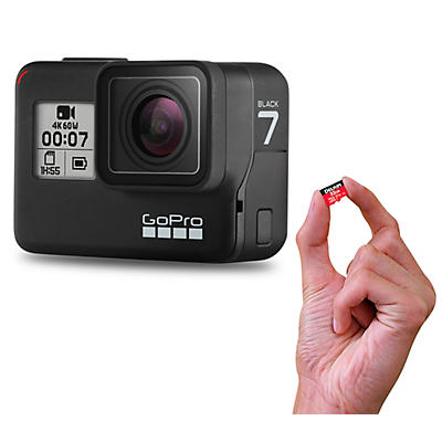 GoPro HERO7 Black Action Video Camera with Memory Card