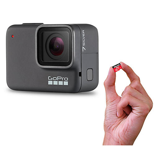 HERO7 Silver Action Video Camera with Memory Card