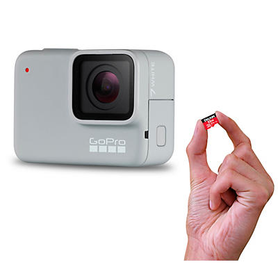 GoPro HERO7 White Action Video Camera with Memory Card