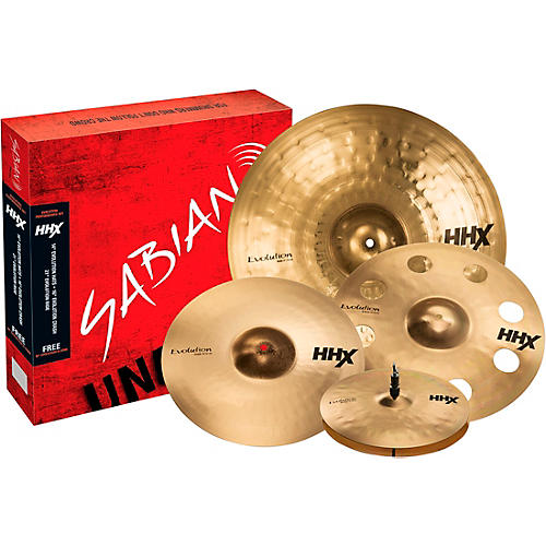 Sabian HHX Evolution Cymbal Set with Free 18