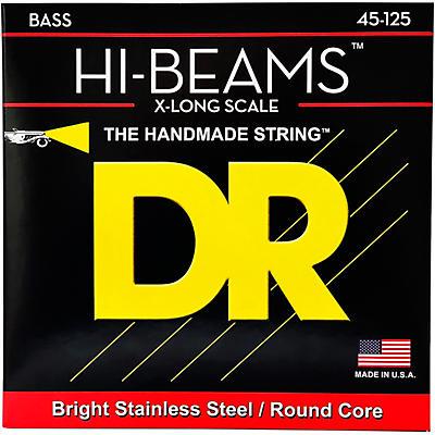DR Strings HI-BEAM Stainless Steel 5-String Bass Strings X-Long Scale (45-65-85-105-125)
