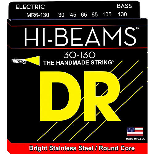 DR Strings HI Beams 6 String Bass Medium .130 Low B (30-130)