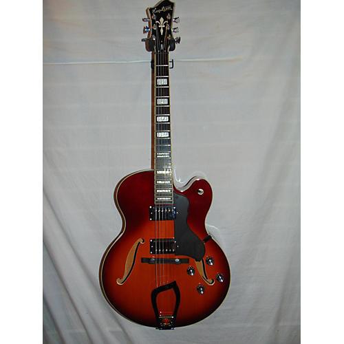 Hagstrom HJ600 Jazz Hollow Body Electric Guitar 2-TONE SUNBURST