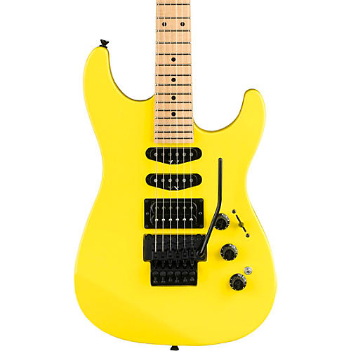 Fender HM Stratocaster Maple Fingerboard Limited Edition Electric Guitar Frozen Yellow