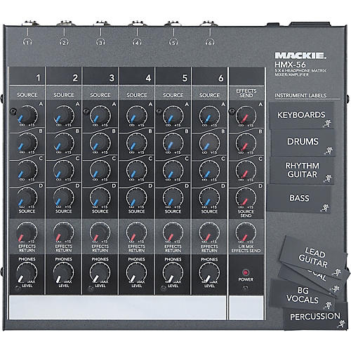Mackie HMX-56 6-Channel Headphone Matrix Mixer