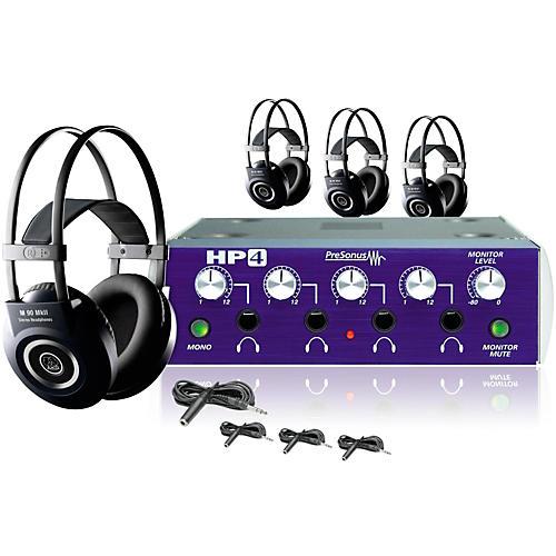 PreSonus HP4 AKG M90 4 Headphone Package Plus