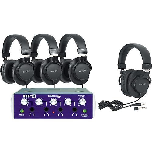 PreSonus HP4 Headphone Amp with 4 Headphones