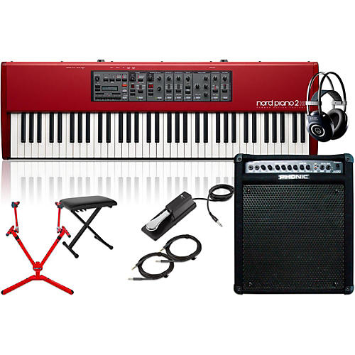 Nord HP73 with Keyboard Amplifier, Matching Stand, Headphones, Bench, and Sustain Pedal