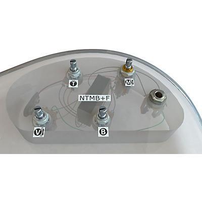 Bartolini HR-2.5AP/918 3-Band NTMB+F Preamp, 4 Pots, Active/Passive