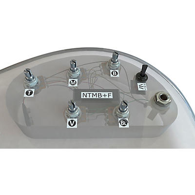 Bartolini HR-5.4/918 3-Band NTMB+F Preamp, 5 Pots, 1 Toggle