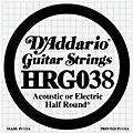 D'Addario HRG038 Half Round 038 Electric Guitar String Single thumbnail