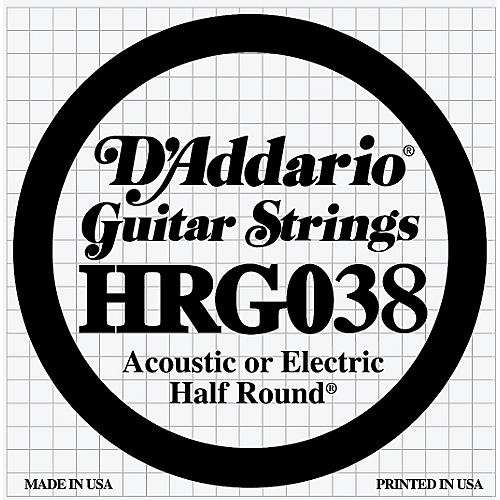 D'Addario HRG038 Half Round 038 Electric Guitar String Single