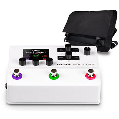 Line 6 HX Stomp Limited Edition Multi-Effects Pedal-White with HX Messenger Bag