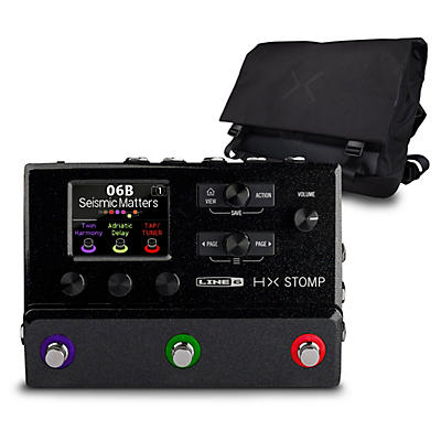 Line 6 HX Stomp Multi-Effects Pedal Black with HX Messenger Bag