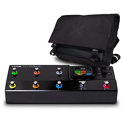 Line 6 HX Stomp XL Multi-Effects Pedal-Black with HX Messenger Bag