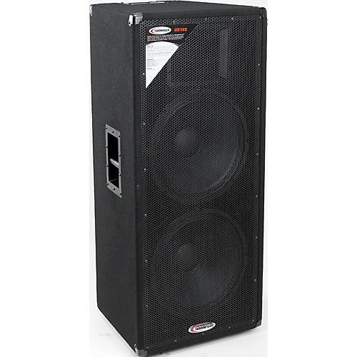 harbinger hx152 dual 15 2 way speaker cabinet musician 39 s friend. Black Bedroom Furniture Sets. Home Design Ideas