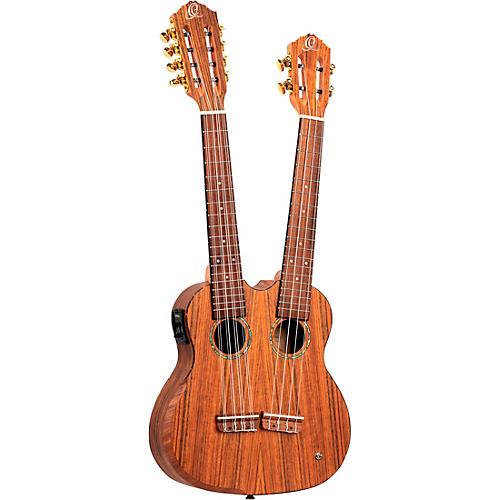 Ortega HYDRA Double Neck 4-String & 8-String Tenor Acoustic-Electric Ukulele