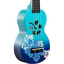 Habiscus Flower Soprano Ukulele Blue