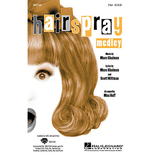 Hal Leonard Hairspray (Medley) 2-Part arranged by Mac Huff