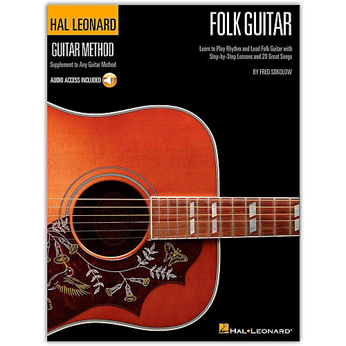 Hal Leonard Hal Leoanrd Folk Guitar Method - Learn to Play Rhythm and Lead Folk Guitar (Book/Online Audio)