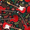 Hal Leonard Hal Leonard Holiday Red Guitars Premium Gift Wrapping Paper thumbnail