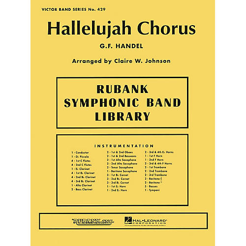 Rubank Publications Hallelujah Chorus Concert Band Level 3-4 Arranged by Clair W. Johnson