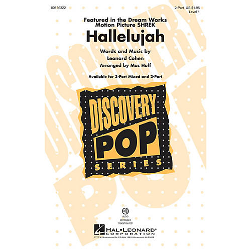 Hal Leonard Hallelujah (Discovery Level 1) 2-Part arranged by Mac Huff