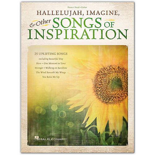 Hal Leonard Hallelujah, Imagine & Other Songs of Inspiration Piano/Vocal/Guitar Songbook Series Softcover by Various
