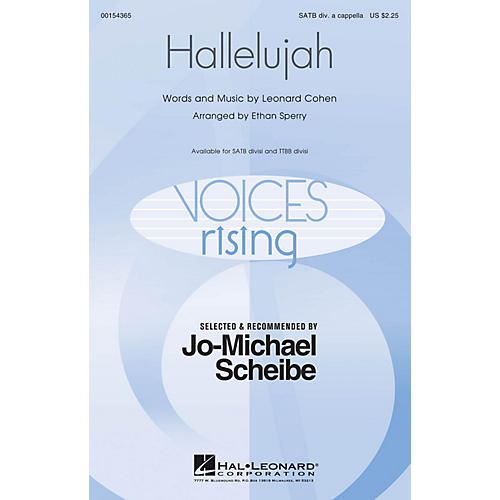 Hal Leonard Hallelujah (Selected and Recommended by Jo-Michael Scheibe) SATB DV A Cappella arranged by Ethan Sperry