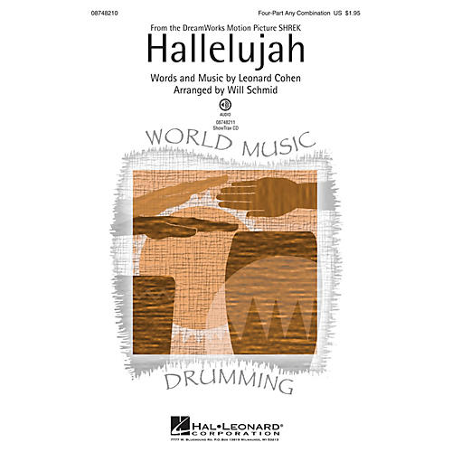 Hal Leonard Hallelujah ShowTrax CD Arranged by Will Schmid