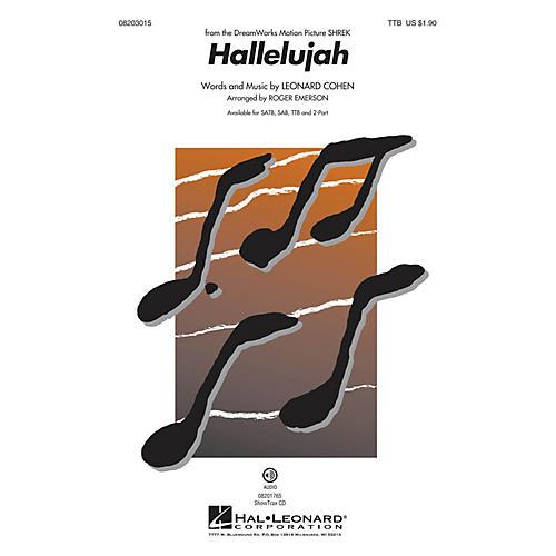Hal Leonard Hallelujah TTB arranged by Roger Emerson