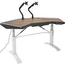Argosy Halo G E Plus Height Adjustable Desk with Mahogany Surface