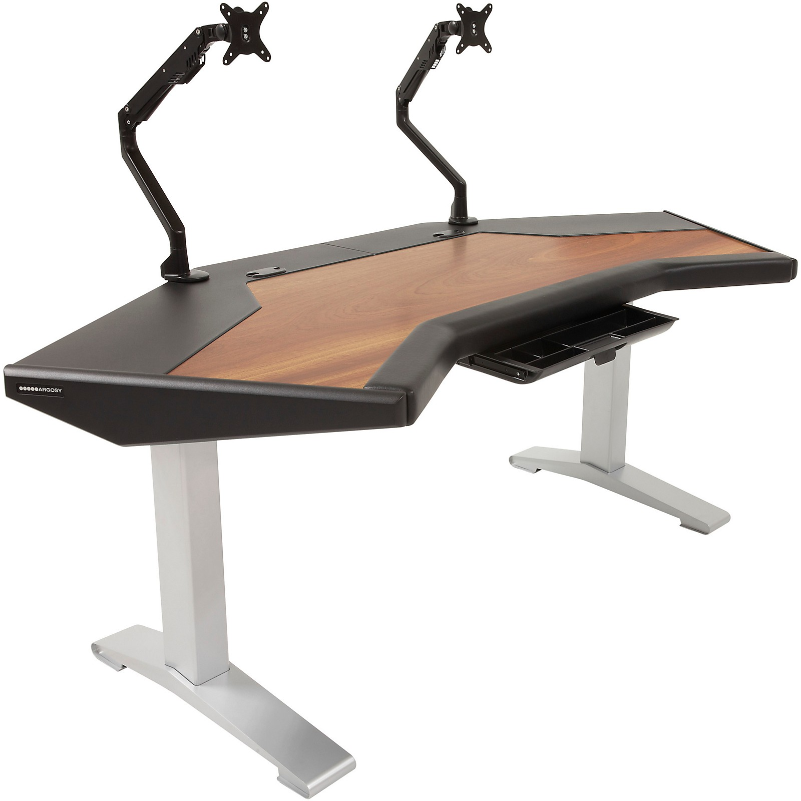 Argosy Halo G Plus Desk with Mahogany Surface