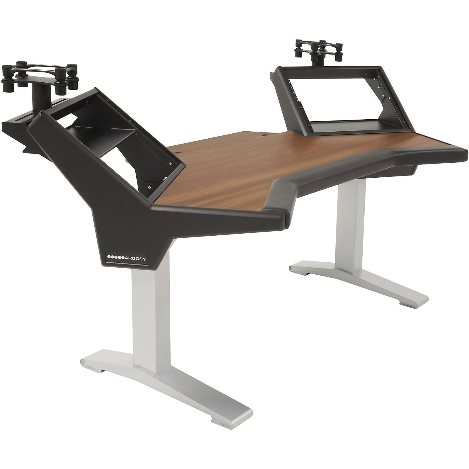 Argosy Halo Plus Desk with Mahogany Surface