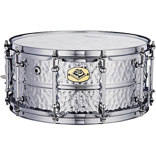 Eccentric Systems Design Hammered Chrome Steel Snare Drum