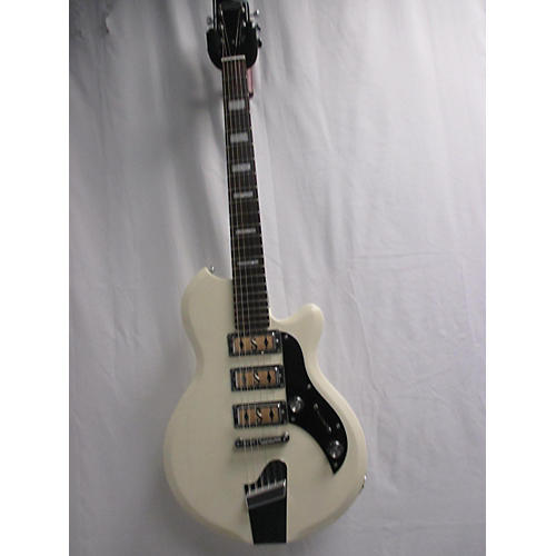 Supro Hampton Solid Body Electric Guitar White