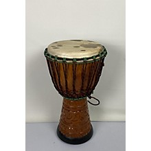 Miscellaneous Hand Carved African Mahogany Djembe