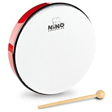 Hand Drum with Beater Red 10 in.