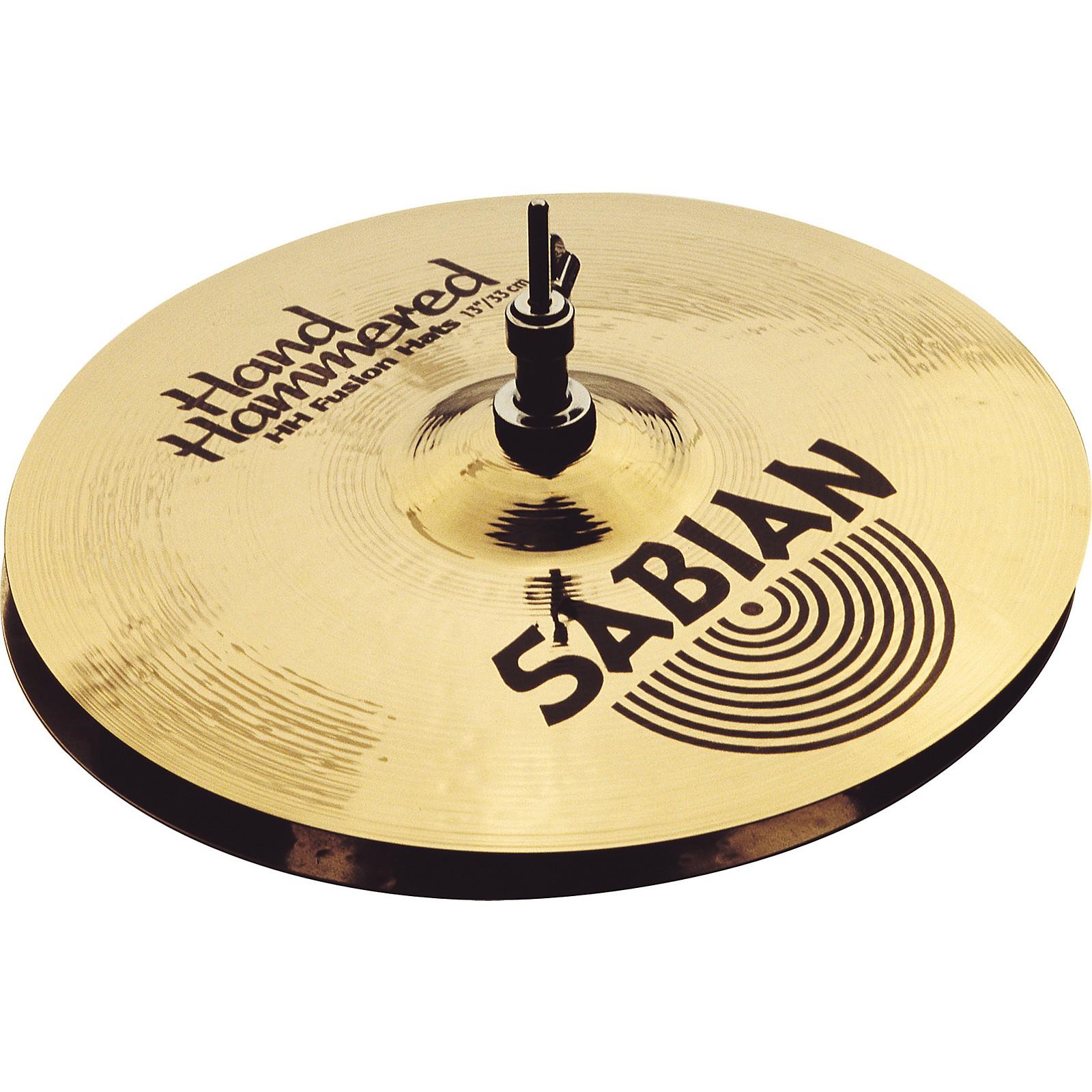Sabian Hand Hammered Fusion Hi-Hat Cymbals 13