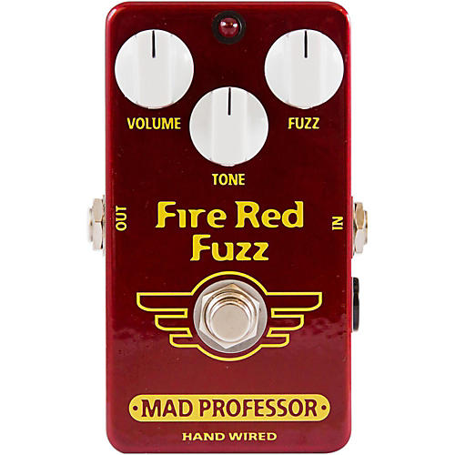 Mad Professor Hand Wired Fire Red Fuzz Guitar Effects Pedal