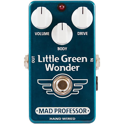 Mad Professor Hand Wired Little Green Wonder Overdrive Guitar Effects Pedal