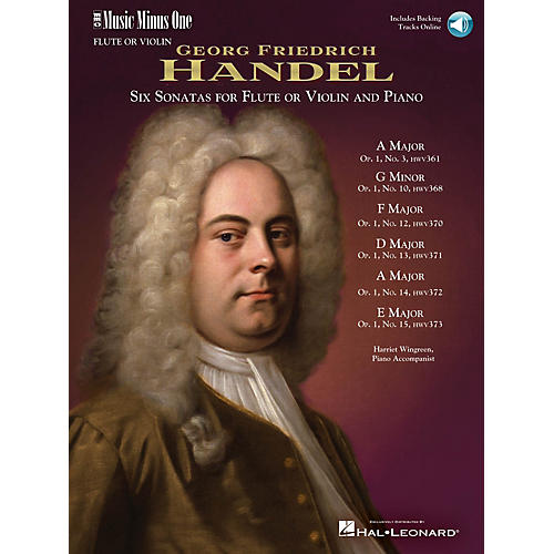 Music Minus One Handel - Six Sonatas for Flute and Piano Music Minus One Series Softcover with CD by Georg F. Handel