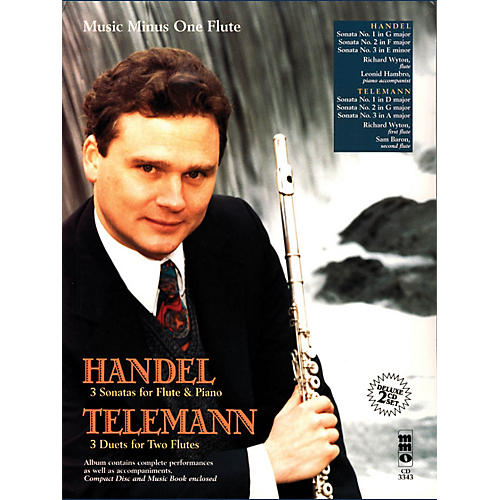 Music Minus One Handel - Sonatas for Flute & Piano; Telemann - 3 Duets for Two Flutes Music Minus One BL/CD by Handel