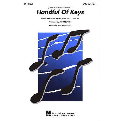 Hal Leonard Handful of Keys SATB arranged by John Leavitt