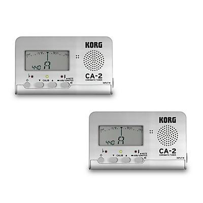 Korg Handheld Chromatic Tuner Silver 2-Pack