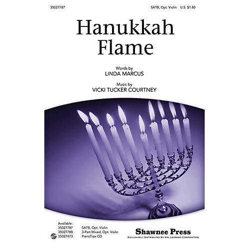 Shawnee Press Hanukkah Flame SATB, VIOLIN composed by Linda Marcus